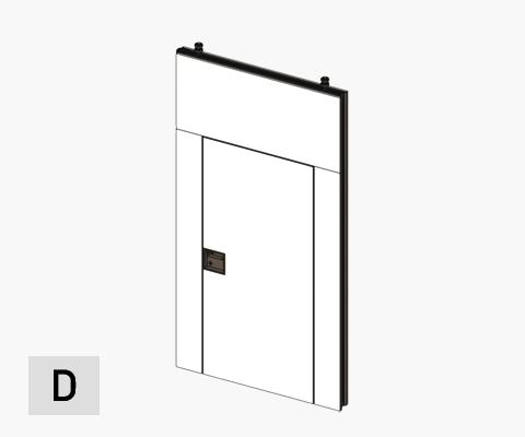 moveable wall porte simple door