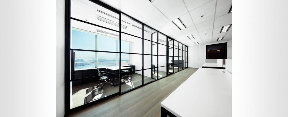 Office partitions, movable office partitions and interior